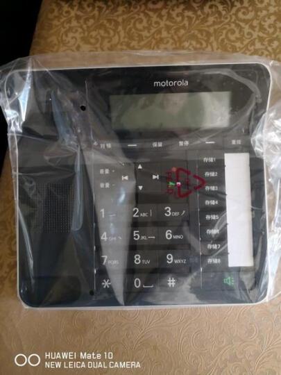 摩托罗拉(Motorola)C7001C数字无绳电话机/座机/子母机通话录音中文显示免提家用办公一拖一固定座机(白色) 晒单图
