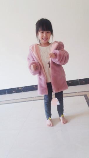 美婷玲(MEITINGLING) 冬季童装女童外套小女孩呢子大加厚保暖儿童中童中长款冬装 769粉色. 130(建议身高125CM左右) 晒单图