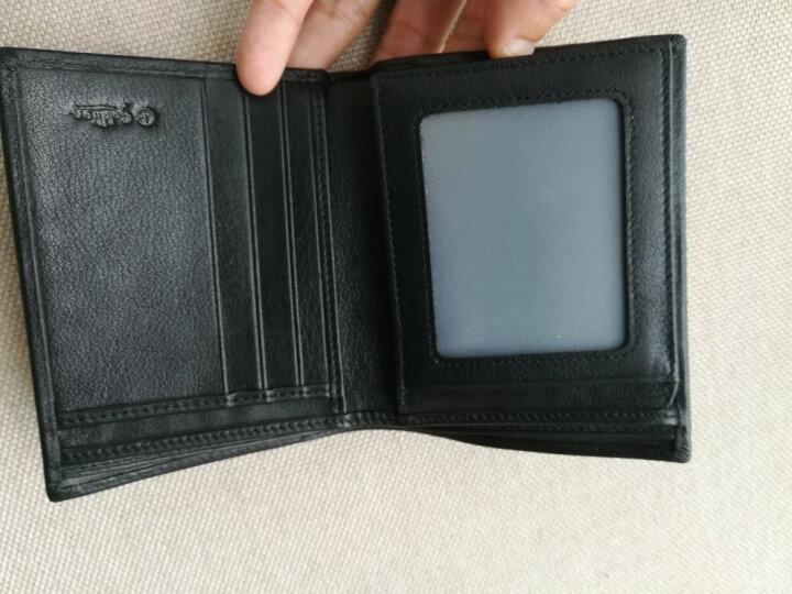 金利来(Goldlion)新款男士钱包商务休闲多功能钱夹牛皮票夹 竖款黑色B715009-311 晒单图