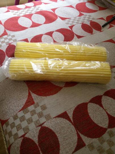 陆盛对折式胶棉拖把配件PVA胶棉拖把头海绵头替换2个装 黄色 晒单图