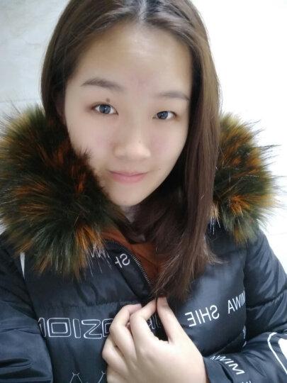 菲诗芬 棉服中长款女过膝2017冬季新款潮韩版加厚两面穿棉衣棉袄外套 黑色 XL 晒单图