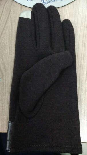 iClever 冬季保暖触屏手套户外运动开车保暖手套 男士-咖啡色均码 晒单图