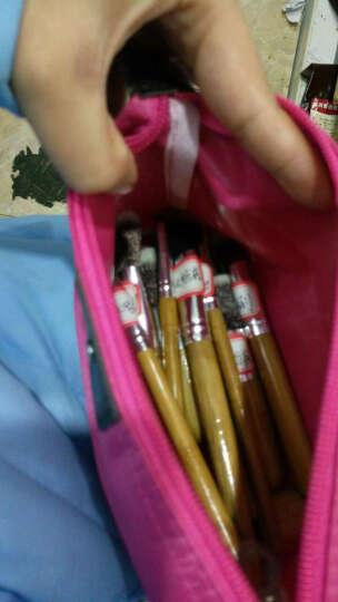优家(UPLUS)檀花竹柄化妆刷11支套刷送化妆包(散粉刷 眼影刷 眼线刷 腮红刷) 晒单图