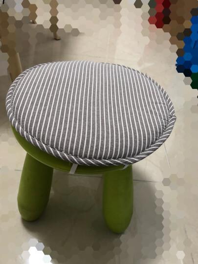 宝宝圆凳子坐垫海绵布艺保暖垫 圆凳垫 圆椅垫 小椅子坐垫 小圆凳坐垫椅垫 咖白条 33*33cm 晒单图