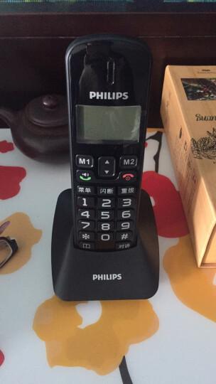 飞利浦(PHILIPS)DCTG152 数字无绳电话机 大屏幕大按键老人电话 办公家用来电显示无线子母机(黑色) 晒单图