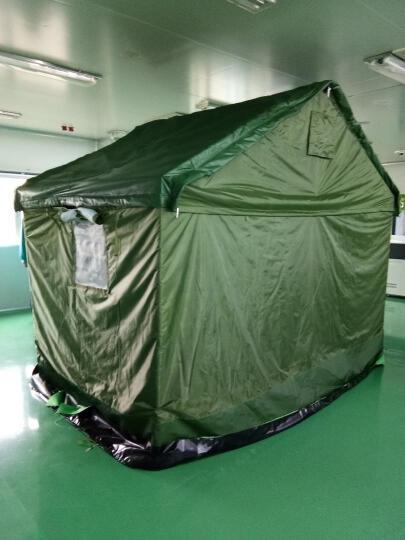 大型施工工地军绿帐篷 军工帆布帐篷夏季降温帐篷工程救灾专用  加厚3层棉冬暖夏凉 棉帐篷5×10米 住20人 晒单图