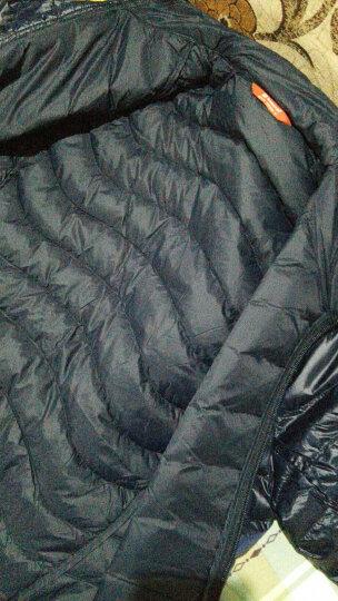 探路者羽绒服男女外套18秋冬新款户外情侣保暖超轻鸭绒HADF91051 胭脂红-女 L 晒单图