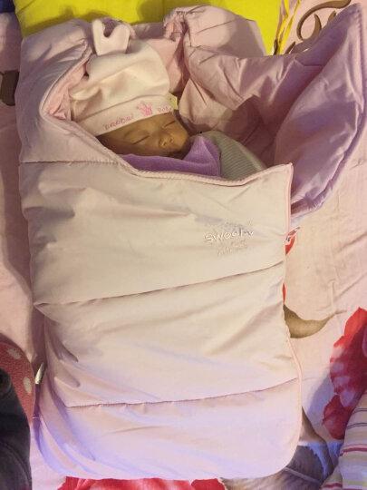史威比(Sweeby) 婴儿抱被秋冬纯棉宝宝包被新生儿用品初生儿防惊跳襁褓BB防踢被睡袋 粉红色 晒单图