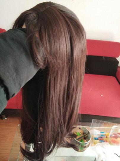 芙妮菲儿(fairily) 假发女 长直发内扣隐形无痕仿真流行网红气质空气刘海齐腰假发套 模特色(深棕色) 晒单图