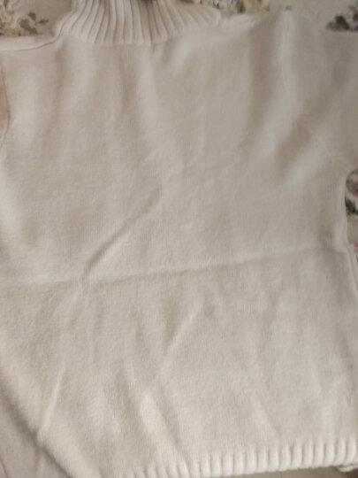 时愿 针织衫女2017秋冬新品韩版宽松中长款纯色高领套头加厚针织毛衣 LSF0107 米色 均码 晒单图