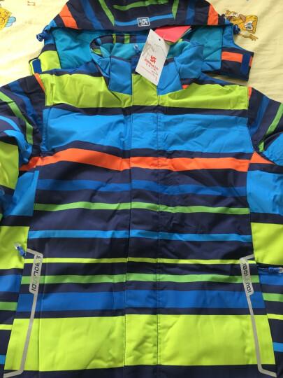 斯博兰帝 儿童滑雪服男童女童款 加厚保暖户外防寒服 横条宝蓝色 130 晒单图