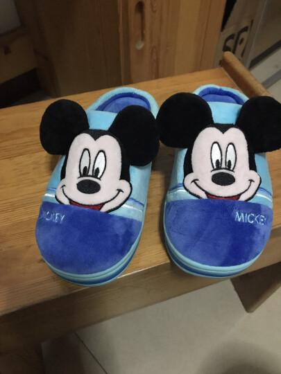 和居家  迪士尼儿童棉拖鞋冬季男童女童家居家用室内棉鞋包跟 米妮-玫红-包跟 43/44(标准码) 晒单图