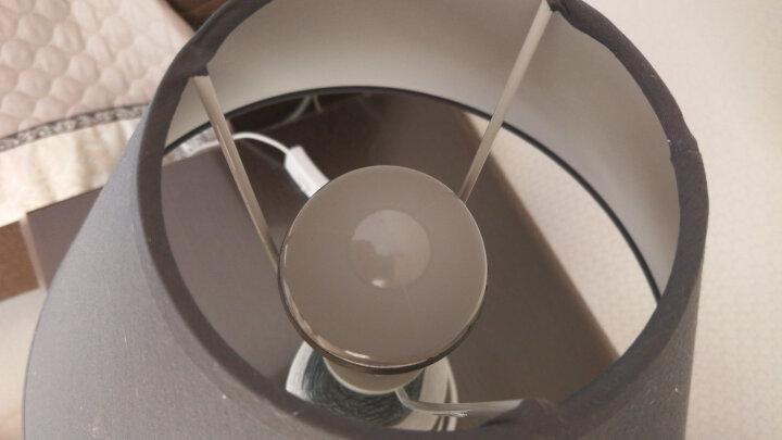 盏爱台灯卧室床头灯创意北欧陶瓷简约现代时尚客厅可爱温馨暖光遥控LED可调光床头灯 大号按钮+黄、白可调光遥控灯泡 晒单图