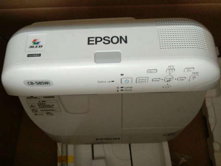 爱普生(EPSON) 投影仪 超短焦 教育会议投影机 CB-585WI(3300流明 WXGA互动功能) 标配+90英寸可书写搪瓷投影白板 晒单图