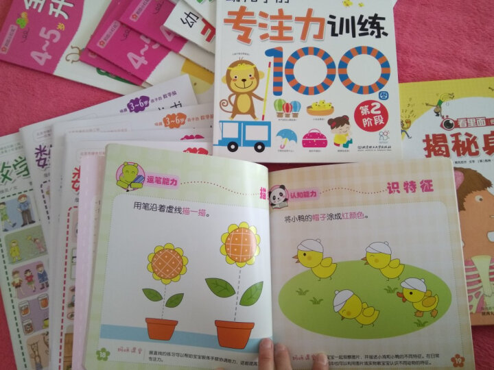海润阳光·幼儿学前全脑益智游戏100图(套装共4册) 晒单图