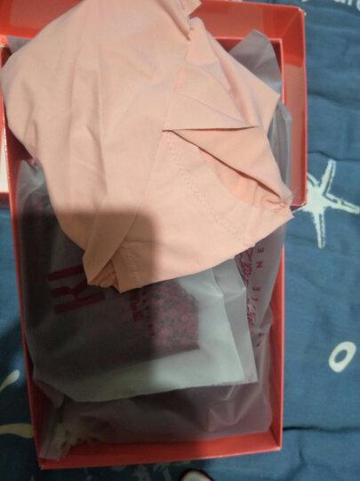 法国KJ本命年大红文胸套装欧美蕾丝性感聚拢内衣内裤女士薄款胸罩 黑色 80D=36D(配L码内裤) 晒单图
