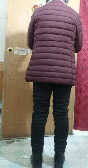 亨达瑞尔 中老年女装冬装新款宽松羽绒棉服中年妈妈装短款棉袄中老年人轻薄保暖棉衣加厚外套 红色小花 4XL(赠送妈妈精美围巾)建议130斤-140斤 晒单图