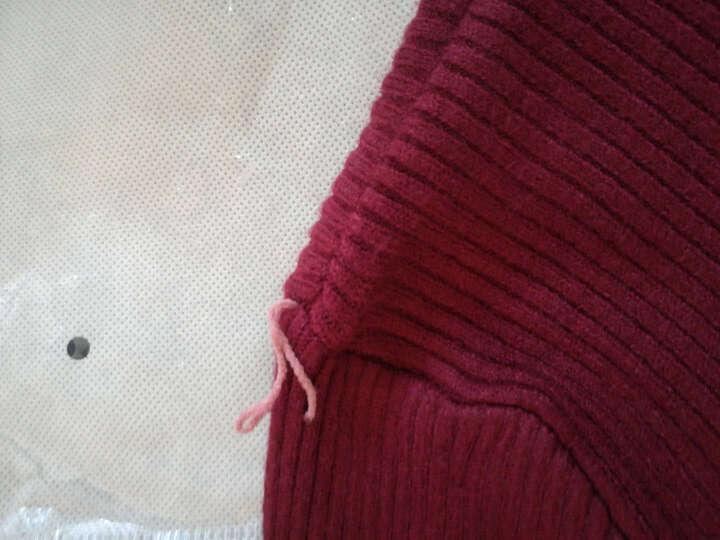 格领特针织衫男2017冬装新款男士纯色高领毛衣男韩版修身套头线衣长袖打底衫 酒红色 XL 晒单图