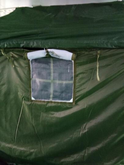 大型施工工地军绿帐篷 军工帆布帐篷夏季降温帐篷工程救灾专用  加厚3层棉冬暖夏凉 棉帐篷5×6米 住12人 晒单图