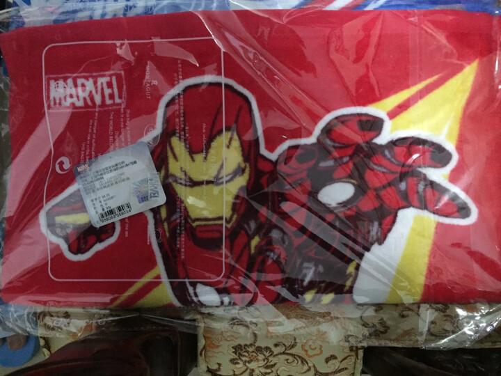 漫威Marvel 美国队长3 美队VS钢铁侠割绒面巾 纯棉大毛巾 柔软吸水 蓝色 34*75cm 晒单图