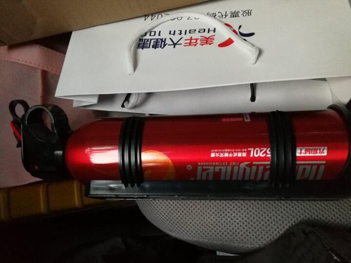火焰战士 车用灭火器 汽车车用车载三角架警示牌安全锤应急救援包车用灭火器套装 520g 普通款 红色 晒单图