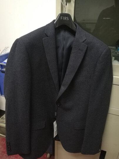杉杉(FIRS)西服男 纯色羊毛韩版毛呢单西装外套 FXWB3048-1蓝色 72*102 晒单图