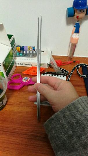 DIY工具毛衣针买一送一毛线编织工具 不锈钢直针 编织毛衣针 织针长针短针 【4根 /  短直针 25cm】 13号长针送短针 晒单图