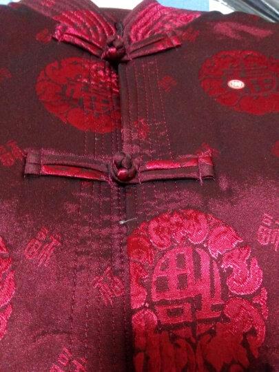 艾芙缇丝中年秋装男士唐装外套中老年男中式夹克中国风民族服装中式喜庆节日庆典祝寿加绒加厚唐装 加厚红色 170 晒单图
