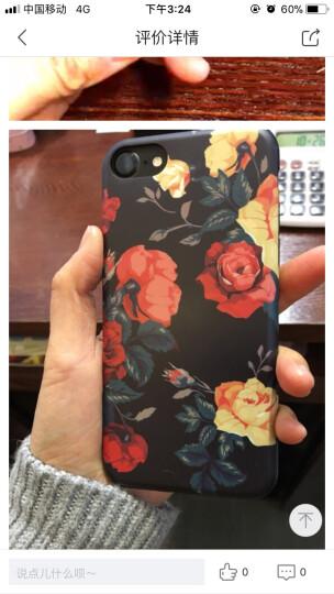 丹非 苹果iPhone7手机壳6/6s/7/8plus女士复古玫瑰花硅胶保护套全包软壳 山茶 6plus/6splus 晒单图