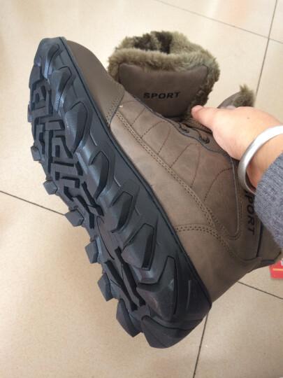 OEOVEAO/欧维欧 雪地靴男靴加绒保暖棉鞋 男士靴子男短靴军靴马丁靴男 901B棕色 42 晒单图