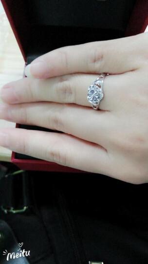 LOVING/爱在此时 pt950铂金戒指女款 白金戒指活口情侣对戒婚戒男生日告白礼物 心爱 晒单图