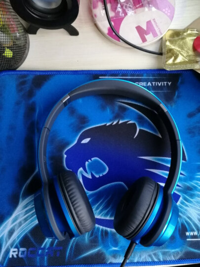 魔声(Monster)Ntune 灵动 头戴式线控耳机 便携带耳麦通话手机耳机 重低音时尚出街音乐耳机 糖果蓝 晒单图