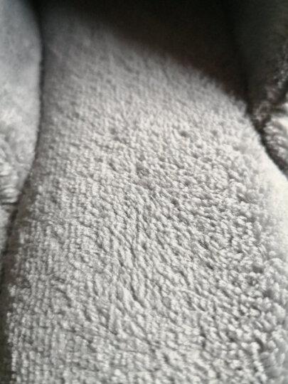 FaSoLa  蝴蝶结暖拖鞋 秋季珊瑚绒拖鞋 男女家居拖鞋  室内情侣拖鞋 珊瑚绒拖鞋 灰色(男款43-44) 晒单图