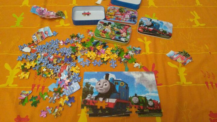 迪士尼(DISNEY)60片铁盒木质拼图幼儿童宝宝早教益智玩具2-3-4-6-7岁拼图玩具 铁盒60片白雪公主2501 晒单图