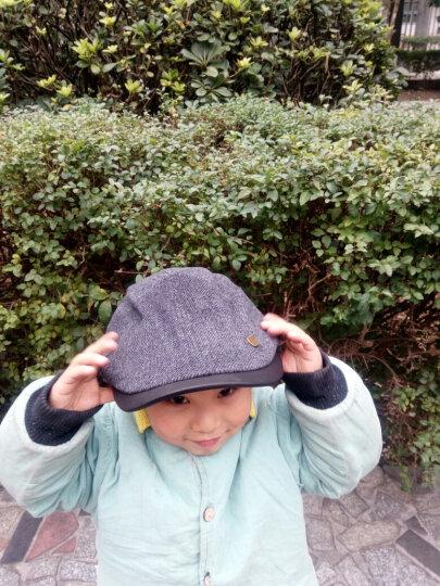 卡蒙(kenmont)男士 帽子 秋冬季时尚贝雷帽 男毛呢鸭嘴帽英伦前进帽鸭舌帽男1476 黑灰色 均码 晒单图