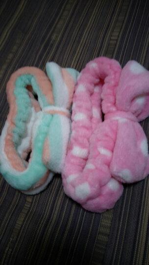 班哲尼 猫耳朵可爱造型束发带 洗脸化妆包头巾 白色 晒单图