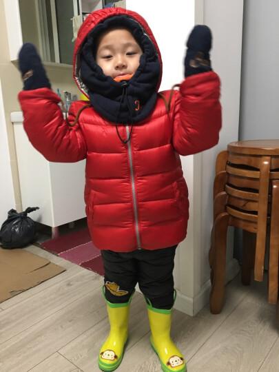 柠檬宝宝lemonkid儿童帽子围脖一体加厚护耳套头帽冬季男女宝宝保暖毛绒帽27020粉色兔子L 晒单图