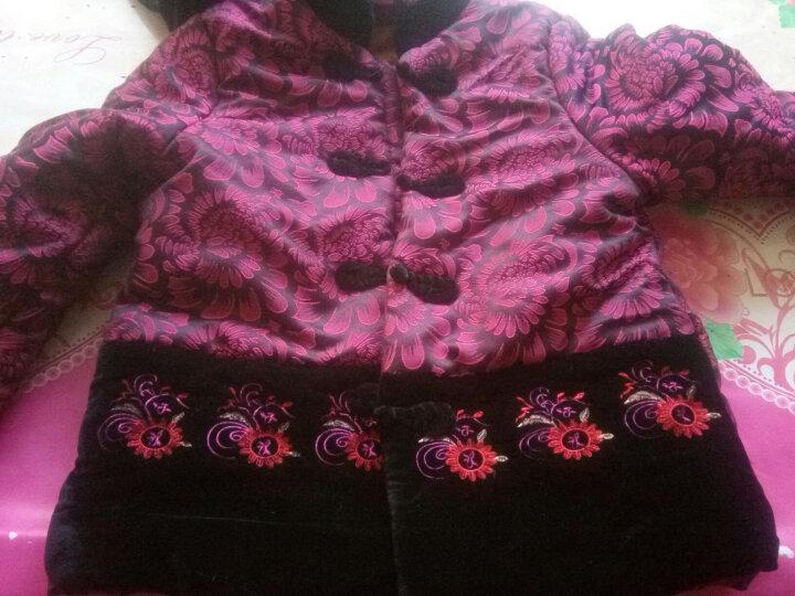 达丽莱 中老年女装棉衣奶奶装冬装老年人唐装加厚加绒棉袄老太太秋冬款上衣外套妈妈装棉服 藏青送裤子 2XL (建议110-120斤) 晒单图