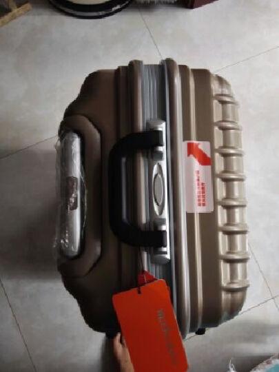 weekender铝框拉杆箱静音万向轮海关锁 20/24寸登机箱商务旅行箱 流沙金 26寸 晒单图
