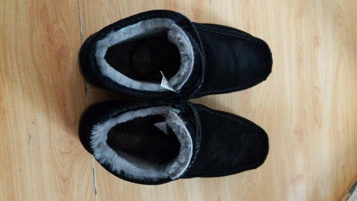 法国CCE雪地靴男鞋休闲鞋英伦板鞋马丁靴高帮鞋男靴羊皮毛一体3866 黑色 42 晒单图