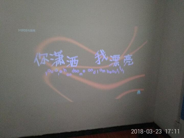 瑞格尔(Rigal)全高清投影仪办公家用 超高清家庭投影机 3D影院 HDMI接口 810标配版白色(无WIFI,不可手机同屏) 晒单图