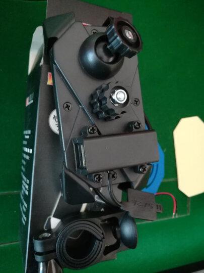 摩托车手机支架usb充电器通用电动车车载导航夹自行车手机架 黑色车把不带充电 晒单图