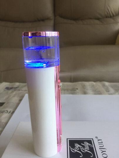 JOYJULY 韩国蒸脸器补水仪器移动电源便携式纳米喷雾器美容仪器冷喷机情人女生节礼物 玫瑰金 晒单图