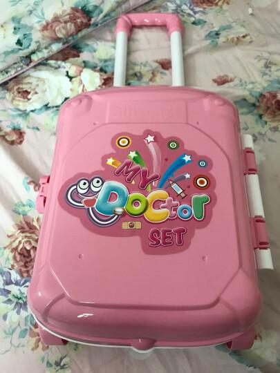 克雷格(KELEIGE) 儿童医生玩具套装仿真大号女孩护士听诊器医生手提箱 粉色手提箱 晒单图