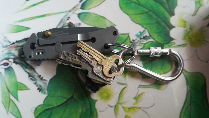 户外登山扣水壶扣背包挂扣钥匙扣铝合金葫芦形快挂 10个装(颜色随机) 晒单图