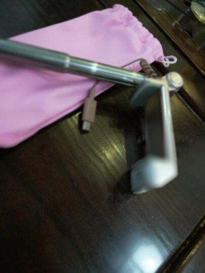 毕亚兹 无线蓝牙迷你自拍杆 伸缩自拍器 自拍器补光灯 适用于苹果7p/三星/小米/魅族等 D43-金 晒单图