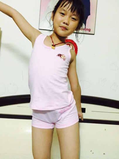N购 女童内衣发育期儿童吊带纯棉打底衫套装夏中大童学生背心 T2388粉红色(套装) 170 晒单图