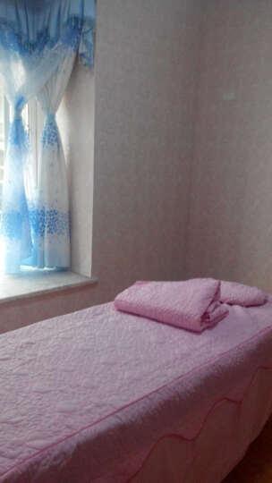 雍荣雅阁家纺美容SPA床罩纯棉被里美容院四件套美容床罩按摩美容床罩四件套 情意绵绵-蓝色 方头190*70cm高55cm 晒单图