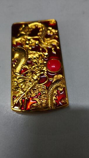 奇域 神龙戏珠USB充电打火机防风电热丝电子点烟器 送男朋友生日礼物 创意时尚个性打火机免费刻字 神龙戏珠红色 晒单图