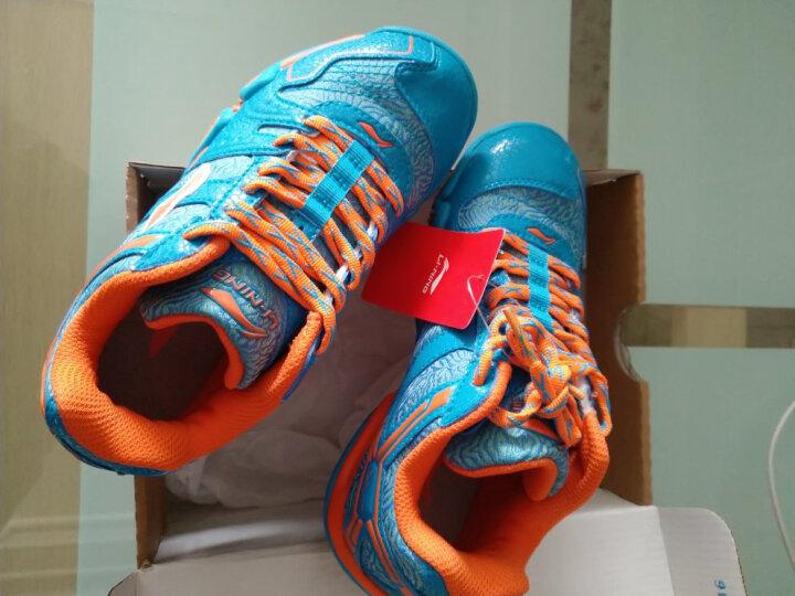 李宁(LI-NING)羽毛球鞋儿童青少年运动鞋童鞋AYTJ068清仓 -7葡萄紫 33=210mm 晒单图